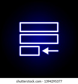 justify text icon in neon style. Can be used for web, logo, mobile app, UI, UX