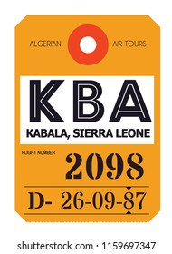Kabala realistically looking airport luggage tag