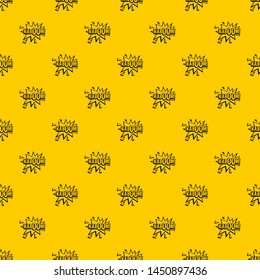 Kaboom, explosion pattern seamless repeat geometric yellow for any design