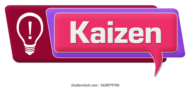 Kaizen concept image with text and related symbols.