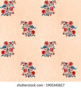 kalamkari and bandini flower designs