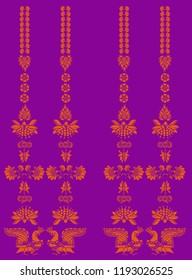 Kalamkari bird and flower motif