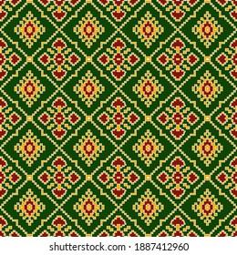 kalamkari and patola and bandini design colourful