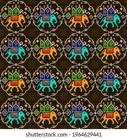 Kalamkari, Patola and bandini digital colourfull allower designs