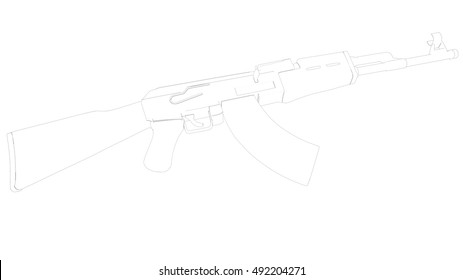 3d Ak47 Images, Stock Photos & Vectors | Shutterstock