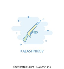 Kalashnikov line trendy icon. Simple line, colored illustration. Kalashnikov symbol flat design from Russia set. Can be used for UI/UX