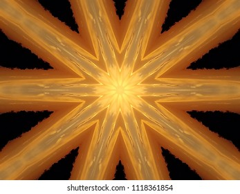 Kaleidescope of orange and black