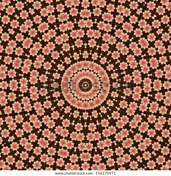 Kaleidoscope Red and Brown Star