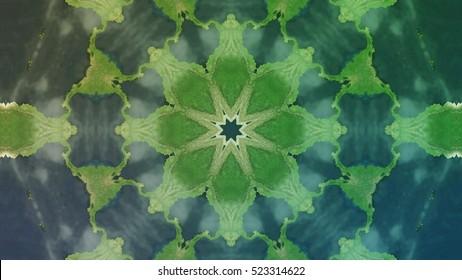 Kaleidoscopic Mandala Background - Powerful Octagon Geometric Kaleidoscope