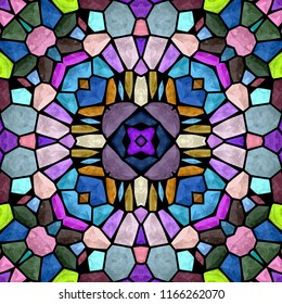Kaleidoscopic multicolor seamless abstract mandala texture, vintage design many ornaments pattern, polygon modern sense background with many ornaments with many color a great view