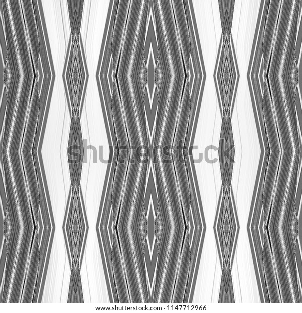 Kaleidoscopic pattern with zigzag lines stripes stains triangles rhombuses. Abstract retro geometric texture. Chevron texture. Ornament Print. Fabric Cloth Swimwear Design Wallpaper Wrapping