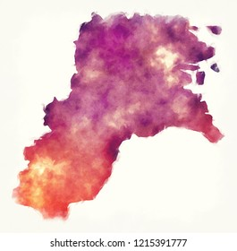 Kalimantan Utara province map of Indonesia in front of a white background