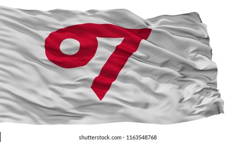 Kani City Flag, Country Japan, Gifu Prefecture, Isolated On White Background