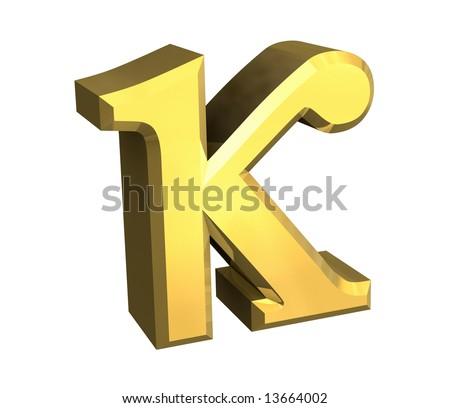 Royalty Free Stock Illustration of Kappa Symbol Gold 3 D Stock ... 3579d124ca6e9