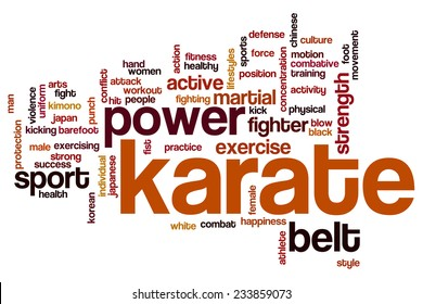 Karate word cloud concept