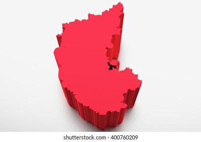 Karnataka Map Images Stock Photos Vectors Shutterstock