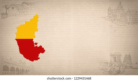 KARNATAKA BACKGROUND DESIGN