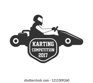 Karting club or kart races championship sportcar  template icon