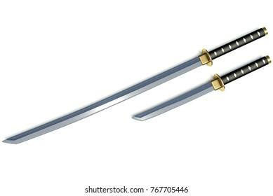 katana weapons samurai 3d