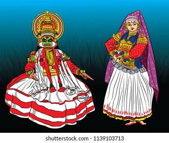 Kathakali art of Kerala