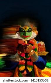 kathakali kerala traditional india paint