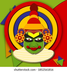 Kathakali is a traditional art form in kerala india.