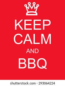 keep calm bbq red sign making stock illustration 293064224