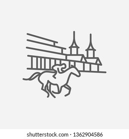Kentucky derby icon line symbol. Isolated  illustration of  icon sign concept for your web site mobile app logo UI design.