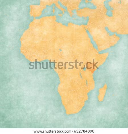 Kenya On Map Africa Soft Grunge Stock Illustration 632784890 ...