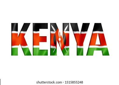 kenyan flag text font. kenya symbol background
