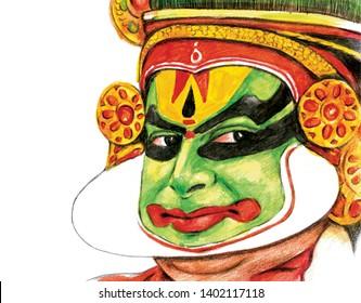 Kerala Handmade Kathakali Face Painting
