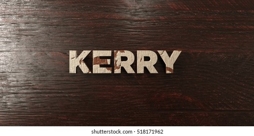 Kerry - grungy wooden headline on Maple  - 3D rendered royalty free stock image. This image can be used for an online website banner ad or a print postcard.
