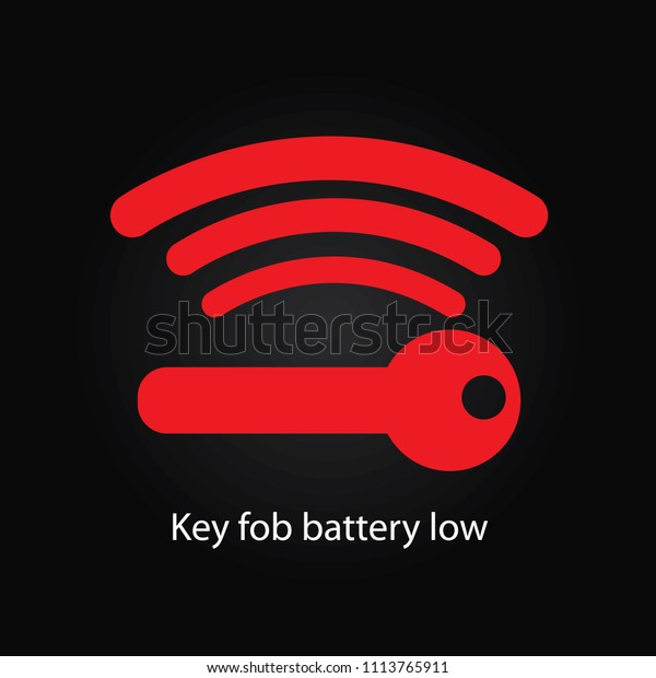 Key Fob Battery Low Stock Illustration 1113765911