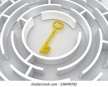 Key to labyrinth. 3d