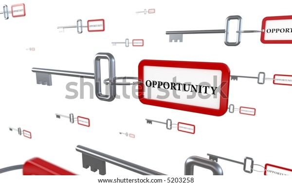 Key to new opportunities. Business concept