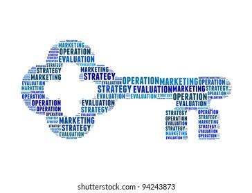 key success factors text on key graphic and arrangement concept