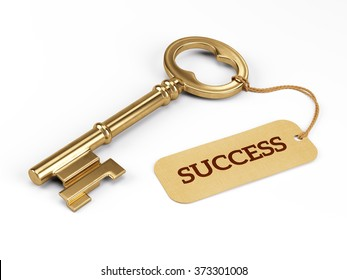 Key to Success isolated on white
