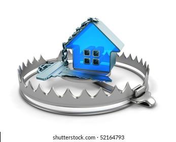 Key with trinket-house on bear trap