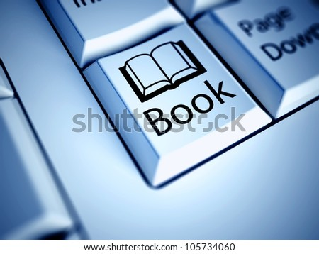 Keyboard with Book button, internet concept