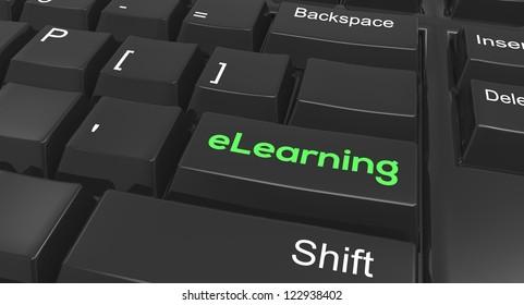 Keyboard focused on eLearning