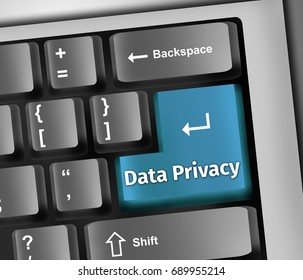 Keyboard Illustration with Data Privacy wording