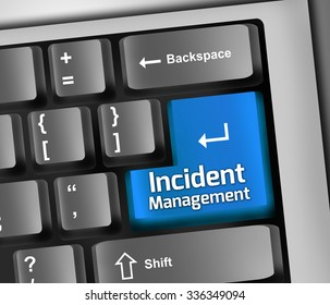 Keyboard Illustration with Incident Management wording