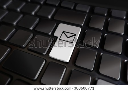 Keyboard Symbol Email Contact Newsletter Stock Illustration