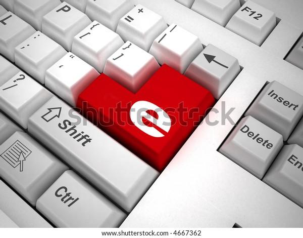Keyboard Symbol Internet On Enter Key Stock Illustration 4667362