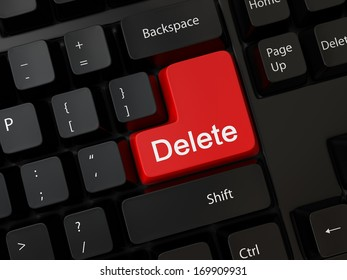 Keyboard with a word delete