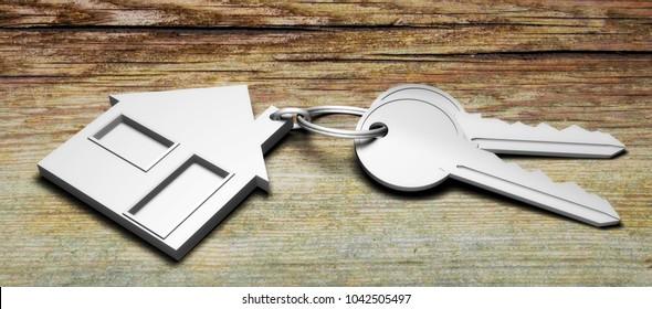 keys house 3D illustration