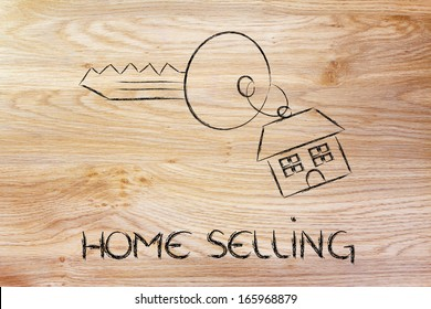 keys with house keyring, concept of buying or selling home