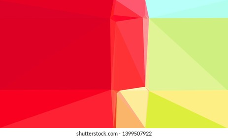 khaki, crimson and pale turquoise color background with triangles. triangles style of different size and shape. simple geometric background for poster, cards, wallpaper or texture.