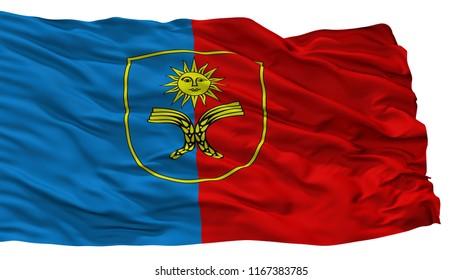 Khmelnytskyi Oblast City Flag, Country Ukraine, Isolated On White Background, 3D Rendering