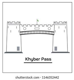 Khyber pass line art